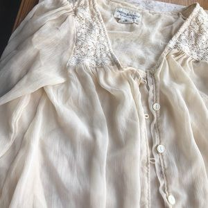 Denim & Supply crotchet gauze tunic